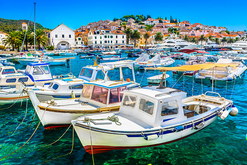 visit hvar in Croatia with an high class escort model